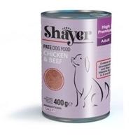 تصویر کنسرو Shayer مخصوص سگ بالغ تهیه شده از گوشت گوساله ومرغ- 400 گرم