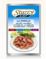 تصویر پوچ گربه بالغ stuzzy با طعم ماهی کد - 100گرم