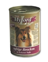 تصویر کنسرو MyLord مخصوص سگ بالغ تهیه شده از کوشت خرگوش و دل 415 گرمی