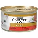 تصویر کنسرو پته مخصوص گربه بالغ Gourmet Gold تهیه شده از گوشت گاو - 85 گرم