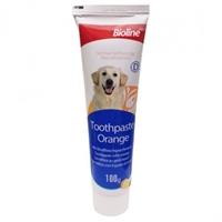 تصویر خمیر دندان Bioline مخصوص سگ با رایحه پرتغال -100گرم