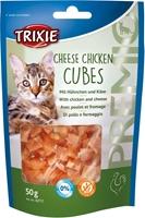تصویر تشویقی مخصوص گربه Trixie مدل Cheese Chicken Cubes تهیه شده از گوشت مرغ و پنیر