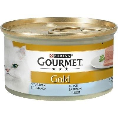 تصویر کنسرو پته مخصوص گربه بالغ Gourmet Gold تهیه شده از ماهی تن - 85 گرم