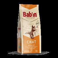 تصویر غذای خشک BaBin مخصوص گربه های بالغ تهیه شده از گوشت مرغ - 3 کیلوگرم