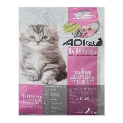 تصویر غذای خشک Adi Cat مخصوص بچه گربه تهیه شده از گوشت مرغ و ماهی - 2 کیلوگرم