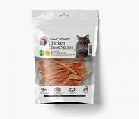 تصویر تشویقی مدادی طبیعی مخصوص گربه Hapoo meal مدل Soft Strips Chicken تهیه شده از سینه مرغ - 100 گرم