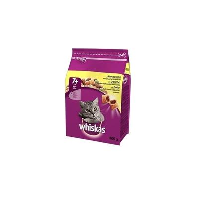 تصویر غذای خشک Whiskas مخصوص گربه بالای 7 سال تهیه شده از گوشت مرغ-800گرم