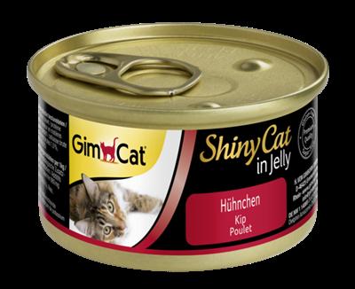 تصویر کنسرو مخصوص گربه Gimcat مدل Shiny Cat تهیه شده گوشت مرغ - 70 گرم