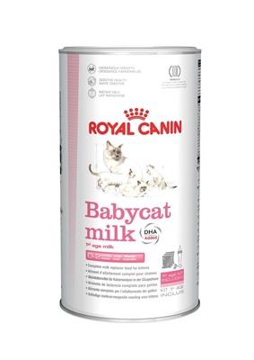 تصویر شیر خشک مخصوص بچه گربه Royal Canin به همراه شیشه شیر و پیمانه - 300 گرم