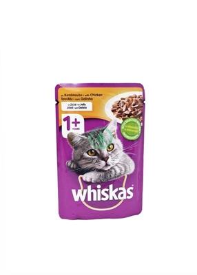 تصویر پوچ Whiskas تهیه شده از مرغ مخصوص گربه -100گرم