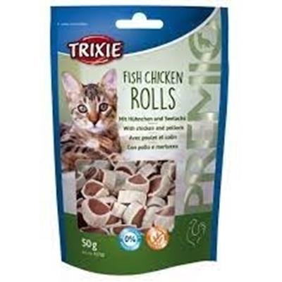 تصویر تشویقی Trixieمخصوص گربه تشکیل شده از ماهی و مرغ-50گرم