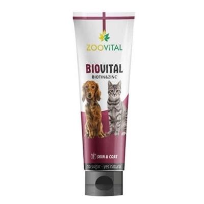 تصویر مکمل Zoovital تقویت کننده پوست ومو مخصوص سگ و گربه - 100گرم