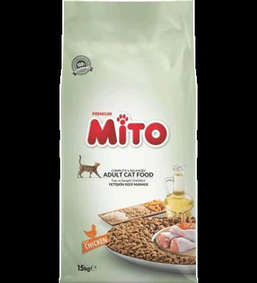 تصویر غذای خشک Mitoمخصوص گربه بالغ تهیه شده از مرغ-15کیلوگرم