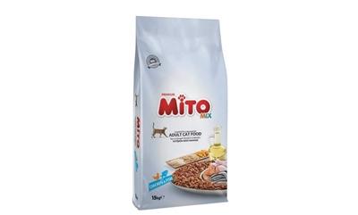 تصویر غذای خشک Mito مخصوص گربه بالغ میکس مرغ وماهی -15کیلوگرم