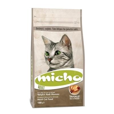 تصویر غذای خشک Micho مخصوص گربه بالغ تهیه شده از مرغ-3کیلوگرم