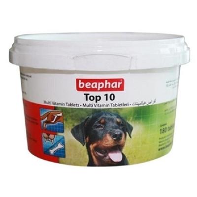تصویر قرص مولتی ویتامین Beaphar مدل Top10 مخصوص سگ - 180 عددی