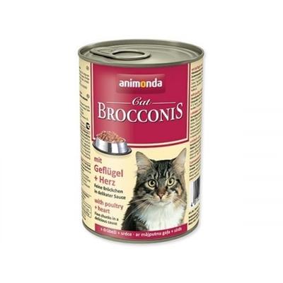 تصویر کنسرو Animonda مدل Brocconis مخصوص گربه حاوی گوشت پرندگان و دل-400 گرم