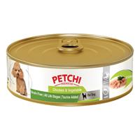تصویر کنسرو Petchi تهیه شده از فیله مرغ و سبزیجات مخصوص سگ - 120گرم