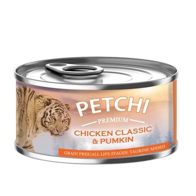 تصویر کنسرو Petchi تهیه شده از مرغ,کدوتنبل مخصوص گربه - 120گرم