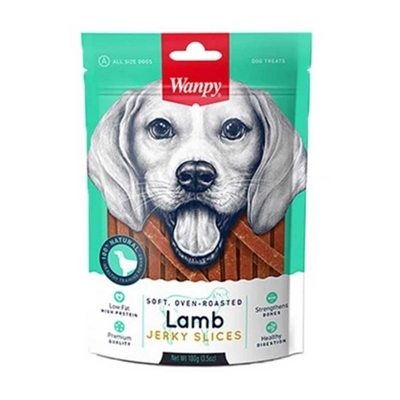 تصویر تشویقی Wanpy مدل Lamb Jerky Slices مخصوص سگ-100گرم