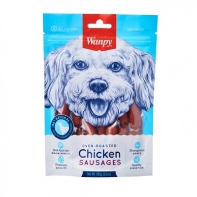 تصویر تشویقی Wanpy مخصوص سگ مدل سوسیس با طعم مرغ-100گرم