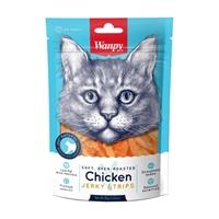 تصویر تشویقی Wanpy مدل Chicken Jerky Strips مخصوص گربه-80گرم