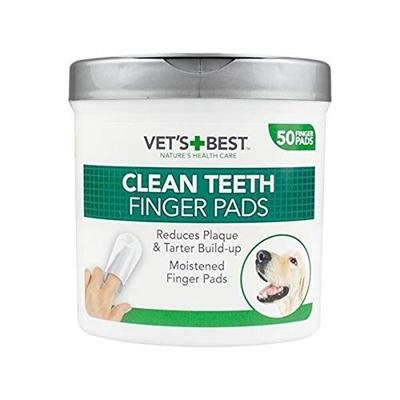 تصویر پد انگشتی Vets best تمیز کننده ی دندان ها مخصوص سگ-50عددی