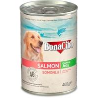 تصویر کنسرو Bonacibo مخصوص سگ تهیه شده از گوشت ماهی در ژله - 400 گرم