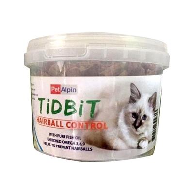 تصویر تشویقی سطلی گربه Tid Bit مدل Anti Hair ball مخصوص گربه-180گرم