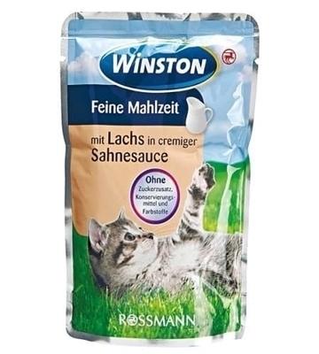 تصویر پوچ Winston تهیه شده از ماهی قزل آلا در سس مخصوص گربه - 100گرم