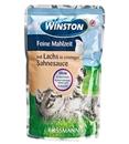 تصویر پوچ  Winston تهیه شده ازماهی و نعنا مخصوص گربه - 100 گرم