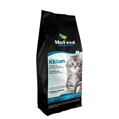 تصویر غذای خشک مفید مخصوص بچه گربه وزن ۲ کیلوگرم MoFeed Kitten dry food 2kg
