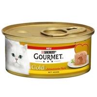 تصویر کنسرو Gourmet پته مخصوص گربه دارای هسته تهیه شده از گوشت مرغ - 100 گرم