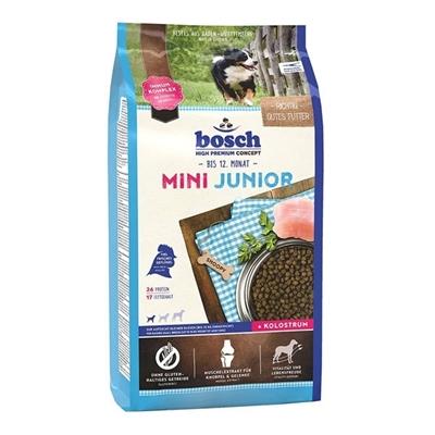 تصویر غذای Bosch مدل mini junior مخصوص سگ تهیه شده از گوشت مرغ برنج بره - 3 کیلوگرم