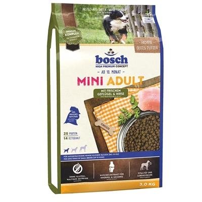 تصویر غذا خشک Bosch مدل mini adult مخصوص سگ تهیه شده از گوشت بره برنج - 3 کیلوگرم