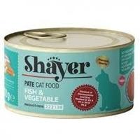 تصویر کنسرو پته Shayer مخصوص گربه تهیه شده از گوشت ماهی و سبزیجات - 110 گرم