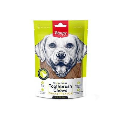 تصویر تشویقی Wanpy مخصوص سگ تهیه شده از گوشت مرغ مدل مسواکی - 100 گرم