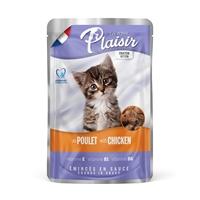 تصویر پوچ Plaisir مخصوص بچه گربه تهیه شده از گوشت طیور و مرغ - 100 گرم