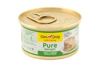 تصویر كنسرو چانكی Gimdog مخصوص سگ تهيه شده از گوشت مرغ وبره - 85 گرم