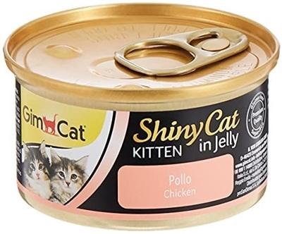 تصویر كنسرو Gimcat مخصوص گربه تهيه شده از گوشت مرغ در ژله - 70 گرم